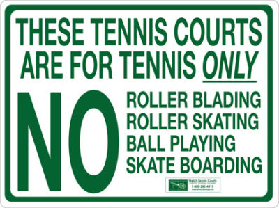 Custom Court Signs